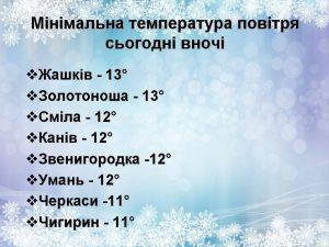 мороз Черкащина