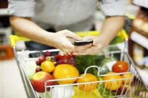 продукти в смартфоні