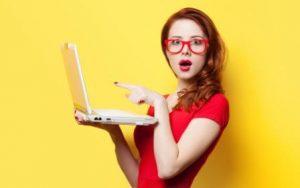 ноутбук-девушке