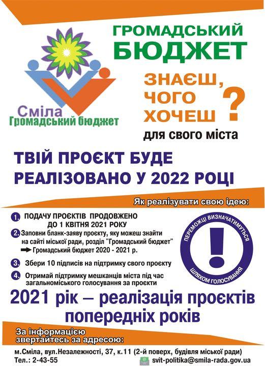 громадський бюджет 2021